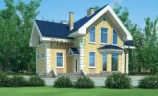 Проект бетонного дома 54-54