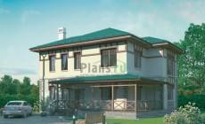 Проект бетонного дома 54-57