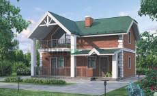 Проект бетонного дома 54-65