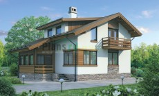 Проект бетонного дома 54-72