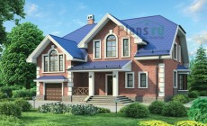 Проект бетонного дома 54-77
