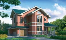 Проект бетонного дома 54-89