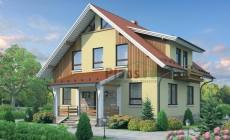 Проект бетонного дома 55-02