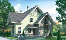 Проект бетонного дома 55-08