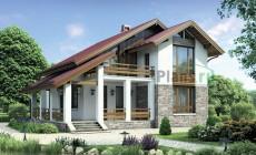 Проект бетонного дома 55-12