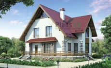 Проект бетонного дома 55-15