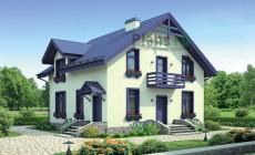 Проект бетонного дома 55-21
