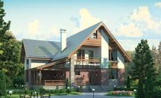 Проект бетонного дома 55-24