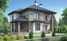 Проект бетонного дома 55-26