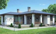 Проект бетонного дома 55-28