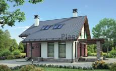Проект бетонного дома 55-35