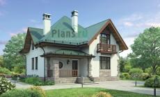 Проект бетонного дома 55-36