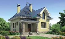 Проект бетонного дома 55-37