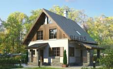 Проект бетонного дома 55-40