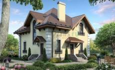 Проект бетонного дома 55-43