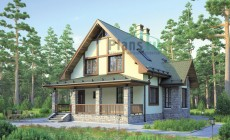 Проект бетонного дома 55-44