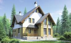 Проект бетонного дома 55-52