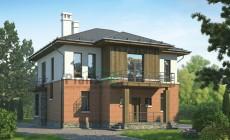 Проект бетонного дома 55-53