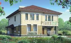 Проект бетонного дома 55-55