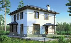 Проект бетонного дома 55-60