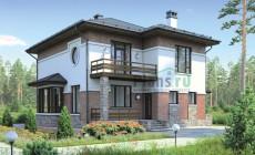 Проект бетонного дома 55-62