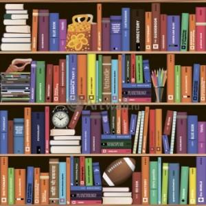 Фотообои «Книжный шкаф с четырьмя полками»