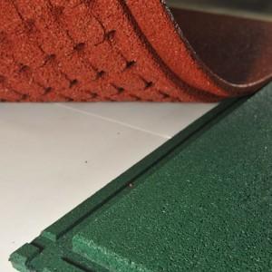 Резиновая плитка Monolit с новым замковым креплени