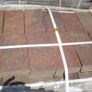 Пиленый камень красный (плитка) натуральный природ