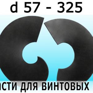 Лопасти для винтовых свай от 57 до 325 диаметра