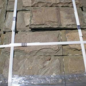 Натуральный камень песчаник серо зелёный со сколом