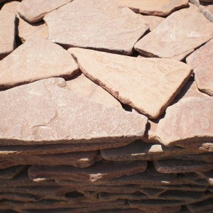 Песчаник галтованный Красный Камень природный