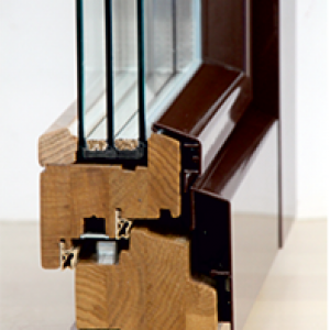 Деревянное окно с алюминиевой системой HOLZ PLUS