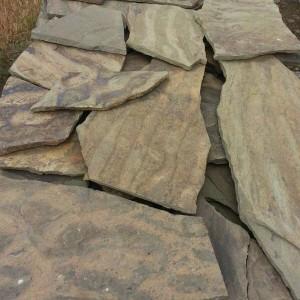 Камень натуральный природный песчаник серо-зеленый