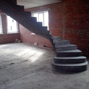 Монолитные лестницы из бетона