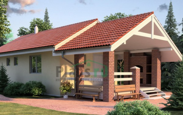 Проект кирпичного дома 35-78