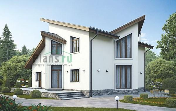 Проект бетонного дома 55-97