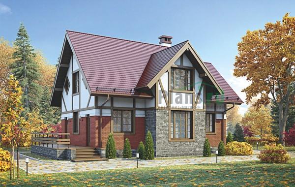 Проект бетонного дома 55-98