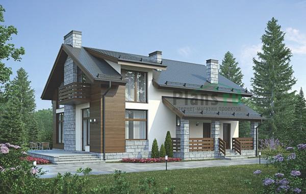 Проект бетонного дома 56-00