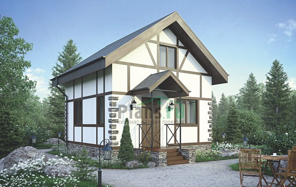 Проект бетонного дома 56-02