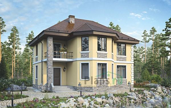 Проект бетонного дома 56-03