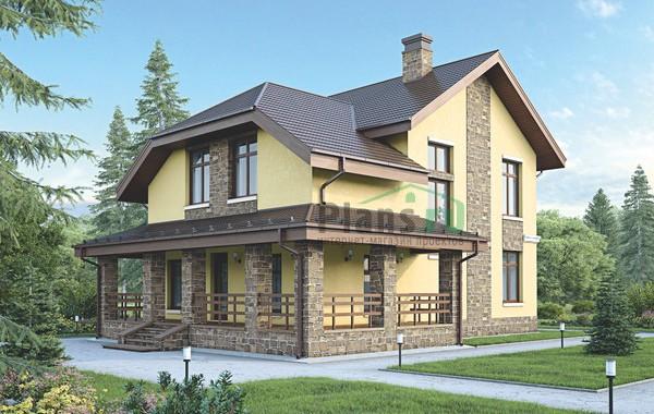 Проект бетонного дома 56-09