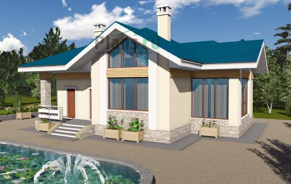 Проект бетонного дома 59-10