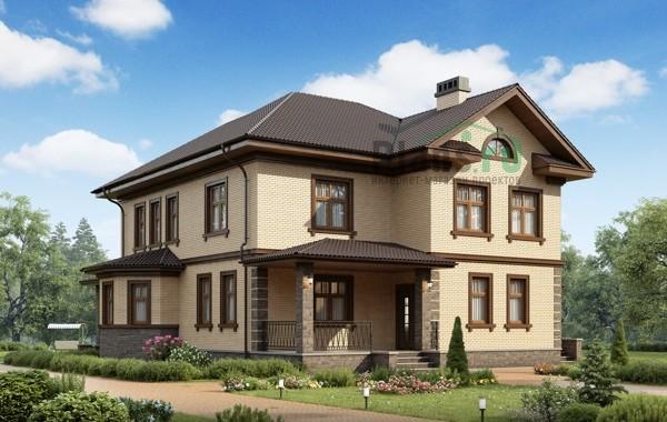 Проект бетонного дома 56-15