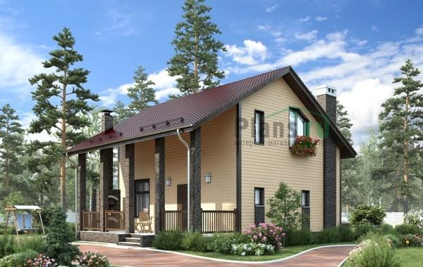 Проект бетонного дома 56-18