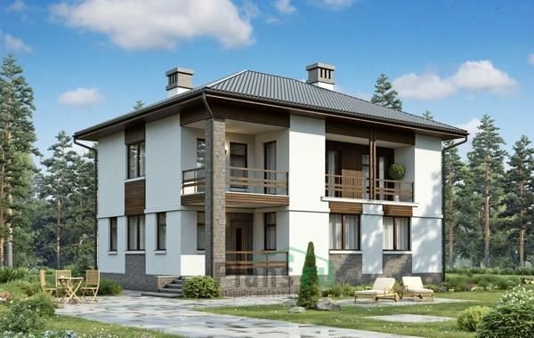 Проект бетонного дома 56-22