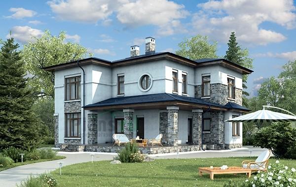 Проект бетонного дома 56-28