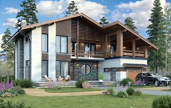 Проект бетонного дома 56-36
