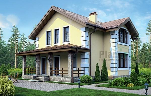 Проект бетонного дома 56-42