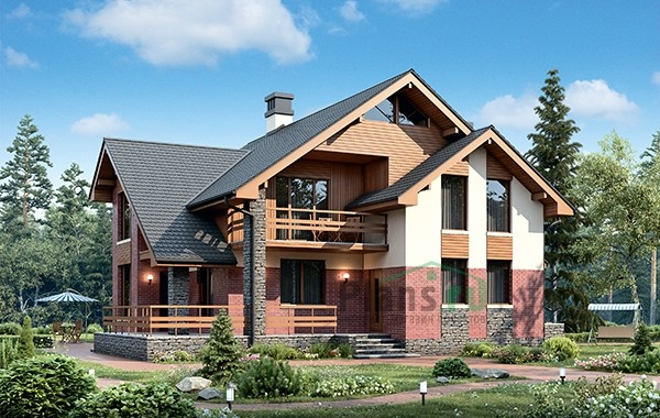 Проект бетонного дома 56-48