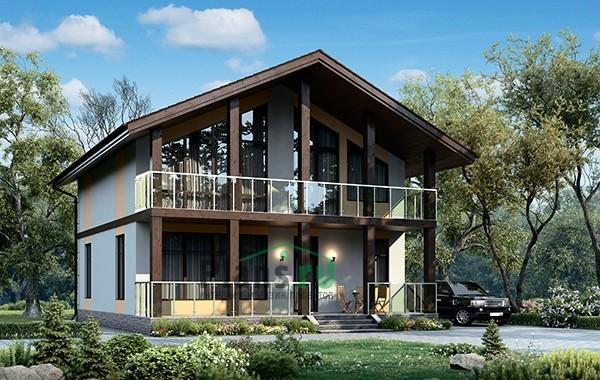 Проект бетонного дома 56-49